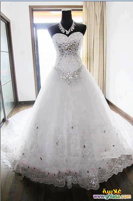 فستان زفاف ليلة العمر 2018 ، فساتين زفاف ملكة الحب 2018 ghlasa1377491766393.jpg