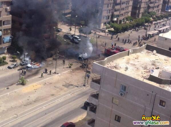 صور انفجار سيارة مفخخة اثناء سير موكب وزير الداخلية شارع مصطفى النحاس مدينة نصر ghlasa1378372672641.jpg