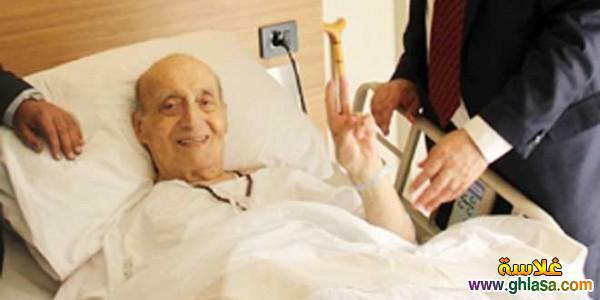 اخر صور الفنان الراحل وديع الصافي وهو في المستشفي ghlasa1382118662353.jpg