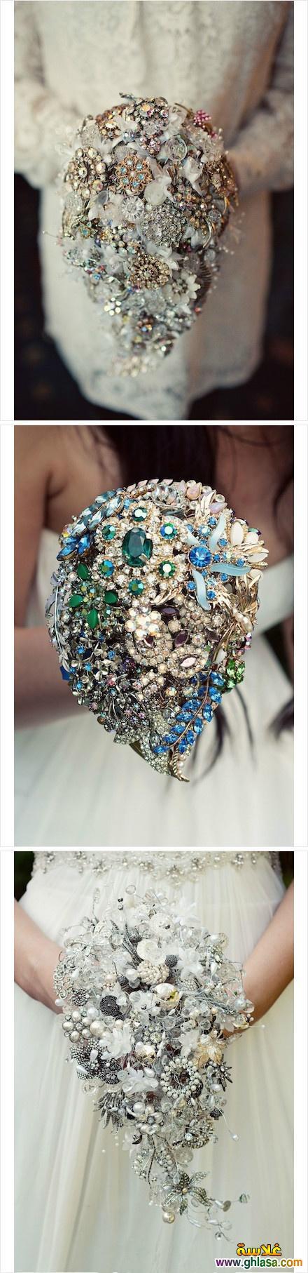 بوكي عروسه مصنوع من الماس مكان الورد البلدي روعه جدا ghlasa1382123620241.jpg