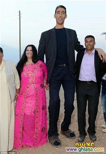 صور حفل زفاف اطول رجل فى العالم على سيدة قصيرة جدا ghlasa138295791333.jpg