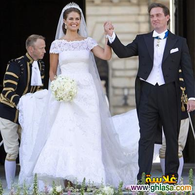 صور فساتين فرح بيضاء للاميرات فساتين زفاف الاميرات ghlasa1383793818084.jpg