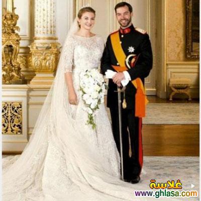 صور فساتين فرح بيضاء للاميرات فساتين زفاف الاميرات ghlasa1383793818148.jpg