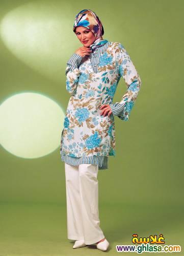صور تونيكات شتوي  للمحجبات احدث موديلات لعام 2019 ملابس محجبات شيك ازياء محجبات انيقه لعام 2019 ghlasa138413417796.jpg