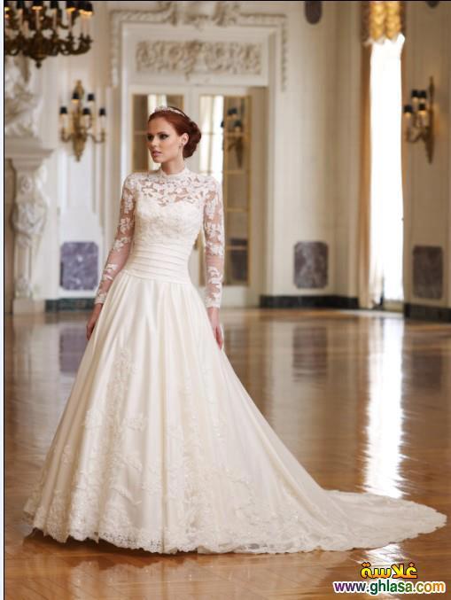 صور فستان زفاف ابيض 2018 ، أجمل صور فساتين زفاف 2018 ghlasa1386300212148.jpg