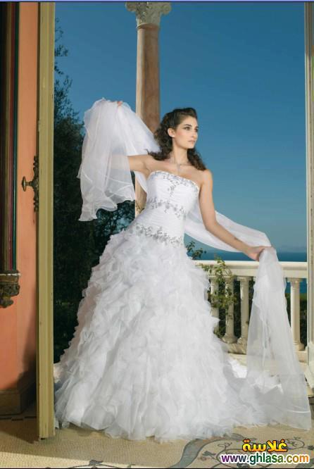 صور فستان زفاف ابيض 2018 ، أجمل صور فساتين زفاف 2018 ghlasa1386300212210.jpg
