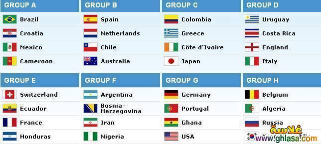 المجموعات النهائيه لكاس العالم 2019 ، صور جدول المجموعات النهائيه لكاس العالم 2019 ghlasa1386351711851.jpg