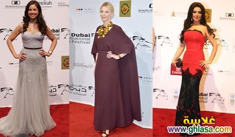 صور فساتين فنانات معرجان دبي  احدث فساتين سهره  بمهرجان دبي ghlasa1386944035781.jpg