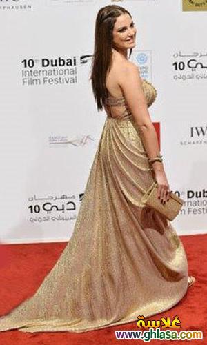 صور فساتين فنانات معرجان دبي  احدث فساتين سهره  بمهرجان دبي ghlasa1386944035864.jpg