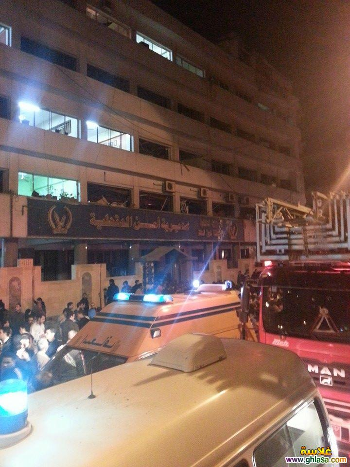 صور تفاصيل انفجار مديرية الامن فى المنصورة اليوم24-12-2020 ghlasa1387844396651.jpg
