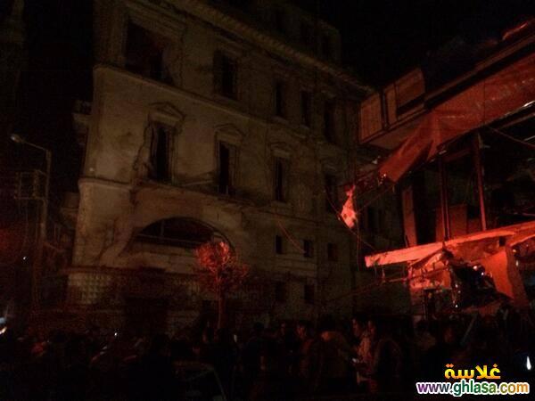 صور تفاصيل انفجار مديرية الامن فى المنصورة اليوم24-12-2020 ghlasa1387844396763.jpg