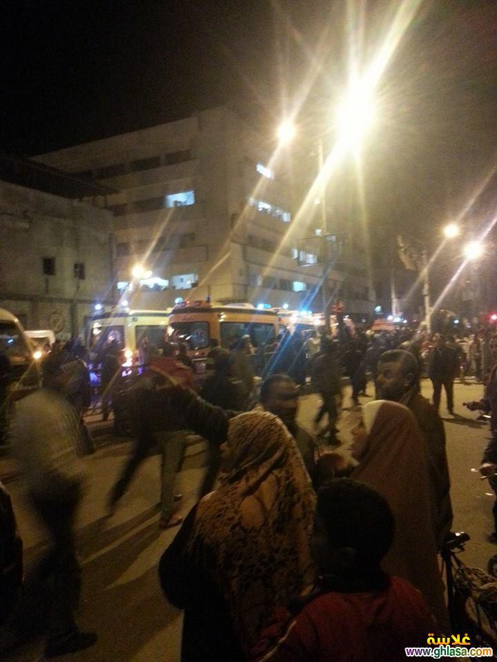 صور تفجير مديرية امن المنصورة ، صور من امام مديرية امن الدقهلية اثناء التفجير ghlasa1387850729121.jpg