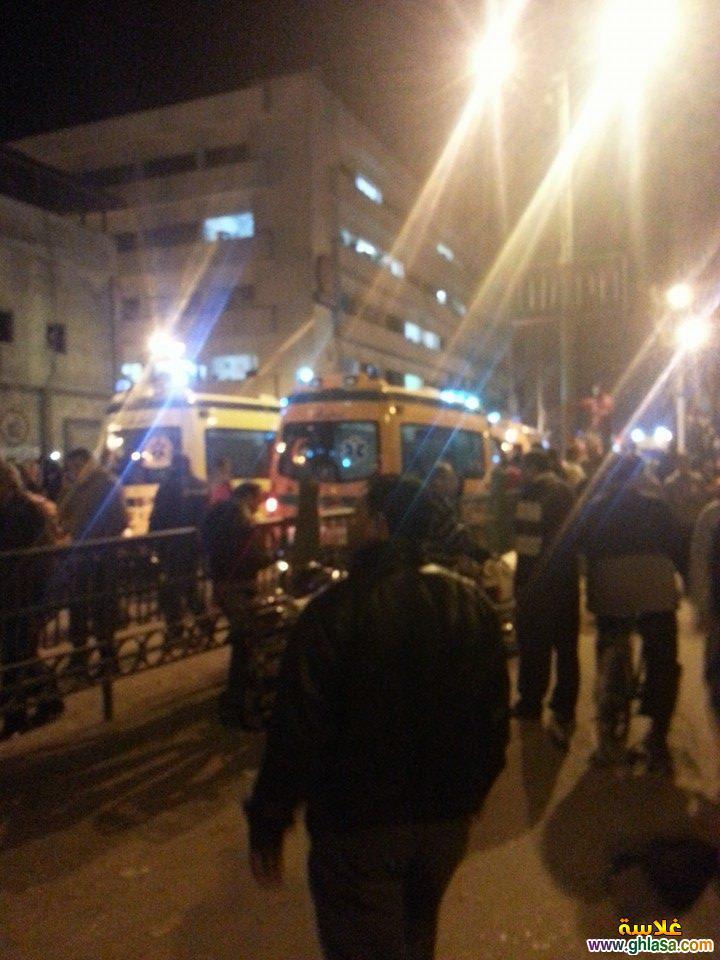 صور تفجير مديرية امن المنصورة ، صور من امام مديرية امن الدقهلية اثناء التفجير ghlasa1387850729192.jpg