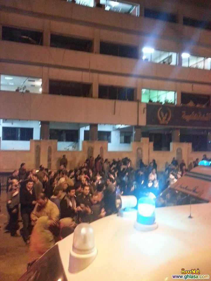 صور تفجير مديرية امن المنصورة ، صور من امام مديرية امن الدقهلية اثناء التفجير ghlasa1387850729243.jpg