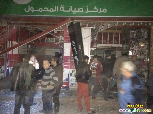 صور تفجير مديرية امن المنصورة ، صور من امام مديرية امن الدقهلية اثناء التفجير ghlasa1387850729324.jpg