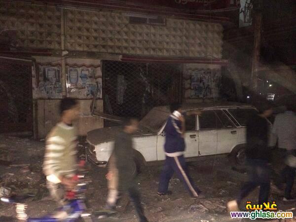 صور تفجير مديرية امن المنصورة ، صور من امام مديرية امن الدقهلية اثناء التفجير ghlasa1387850729477.jpg